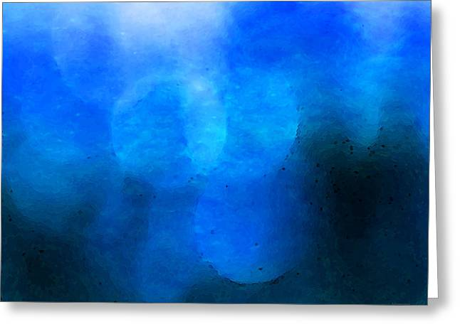 Framed Art Digital Art Greeting Cards - Seeing The Light - Soft Blue Abstract Art Underwater Feel Greeting Card by Sharon Cummings