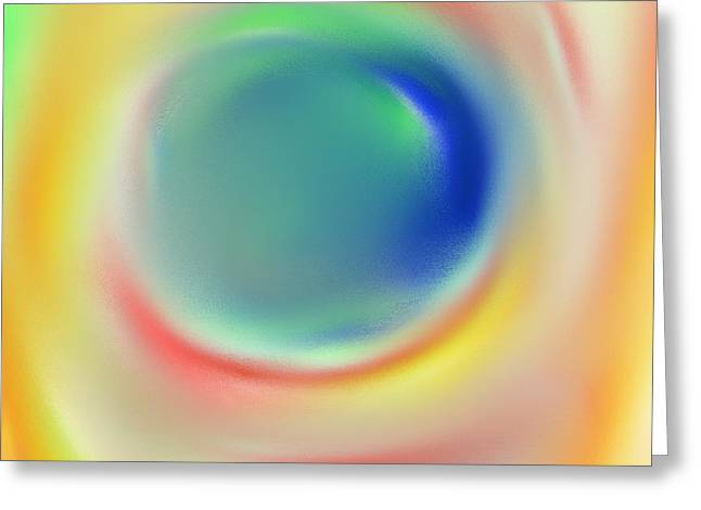 Marble Eye Greeting Cards - Seeing You Greeting Card by Terry Weaver