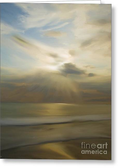 Sun Rays Paintings Greeting Cards - Seek And You Shall Find Greeting Card by Liane Wright