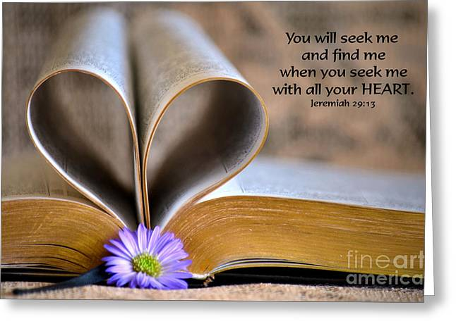 Bible Greeting Cards - Seeking Greeting Card by Deb Halloran