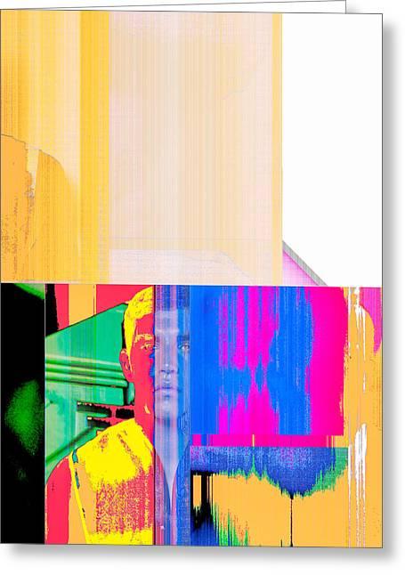 Geometric Digital Art Photographs Greeting Cards - Seeking Encounter Number Eight  Digital Art by Maria Lankina Greeting Card by Maria  Lankina