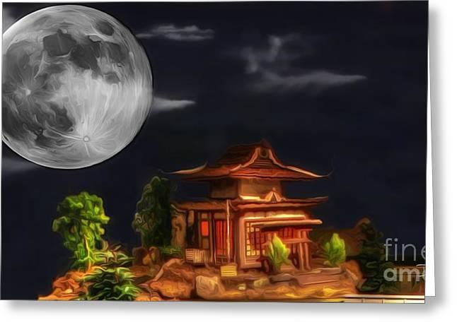 Kyoto Digital Greeting Cards - Seeking Happiness Greeting Card by Dan Stone