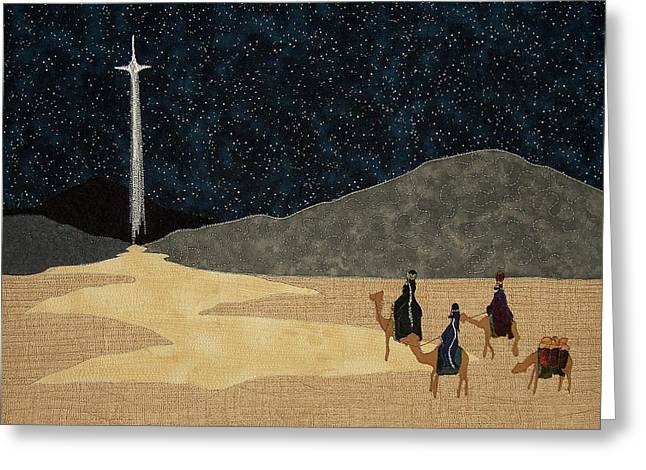 Night-time Tapestries - Textiles Greeting Cards - Seeking Him Greeting Card by Anita Jacques