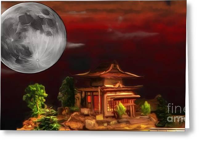 Kyoto Digital Greeting Cards - Seeking Wisdom Greeting Card by Dan Stone