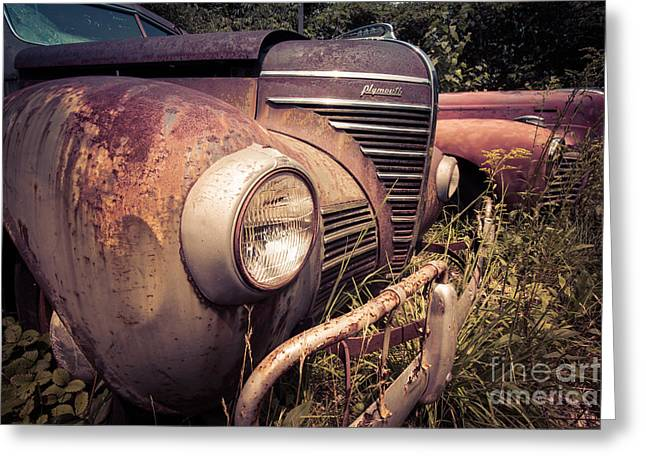 Rusted Cars Greeting Cards - Seen Better Days Greeting Card by Edward Fielding