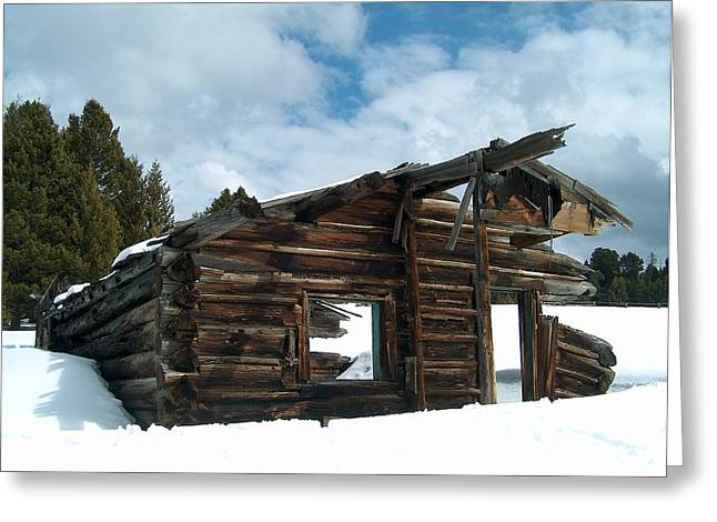 Wooden Building Greeting Cards - Seen Better Days Greeting Card by Mark Eisenbeil