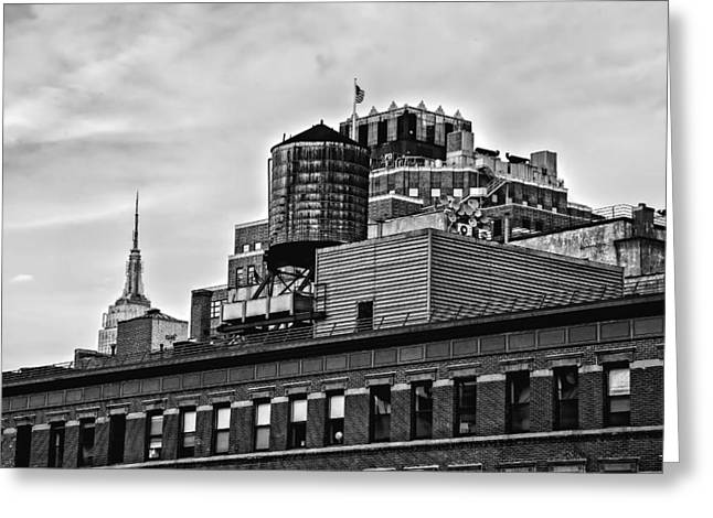 High Line Greeting Cards - Seen From The High Line - NYC Greeting Card by Madeline Ellis