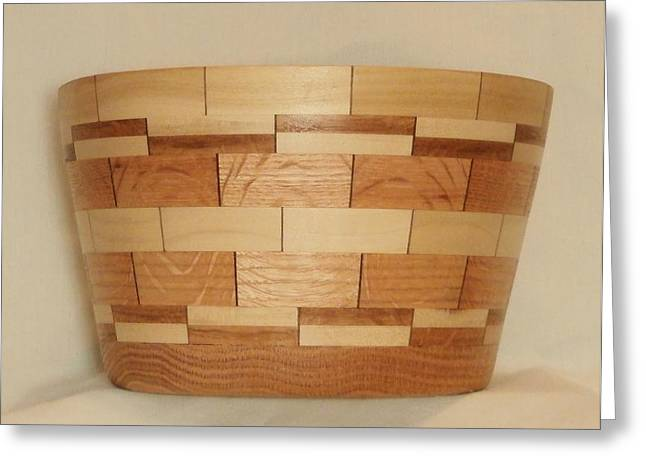 Segmented Bowl Turning-1 Greeting Card by Russell Ellingsworth