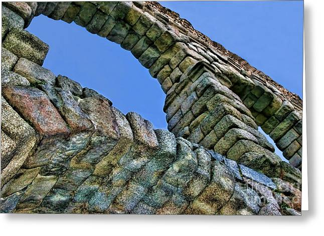 Domitian Greeting Cards - Segovia Aqueduct Arch by Diana Sainz Greeting Card by Diana Sainz