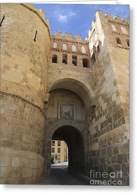 Castle Gates Greeting Cards - Segovia City Gate Greeting Card by Carol Groenen
