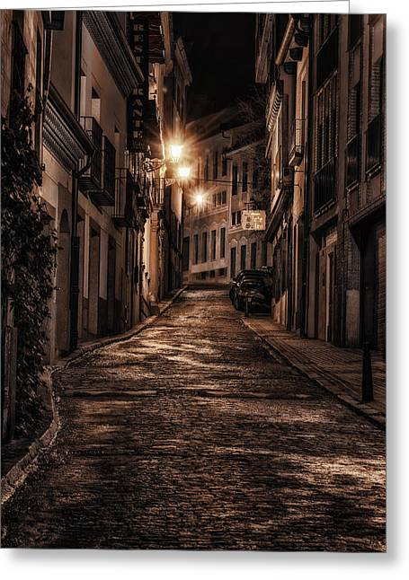 Stones Greeting Cards - Segovia PreDawn Greeting Card by Joan Carroll
