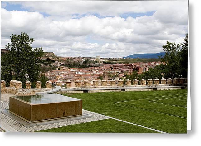 True Cross Photographs Greeting Cards - Segovia Reflected Greeting Card by Lorraine Devon Wilke