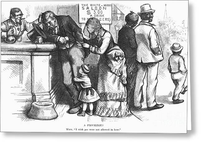 Nast Greeting Cards - Segregated Saloon, 1875 Greeting Card by Granger