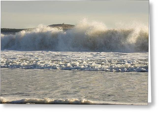 New England Ocean Greeting Cards - Seguin Island Lighthouse from Popham Beach Greeting Card by Keith Webber Jr