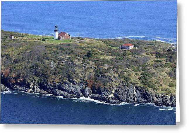 Towering Sea Cliffs Greeting Cards - Seguin Island Lighthouse, Georgetown Greeting Card by Dave Cleaveland