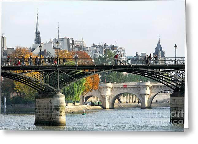 Seine bridges in Paris Greeting Card by Elena Elisseeva