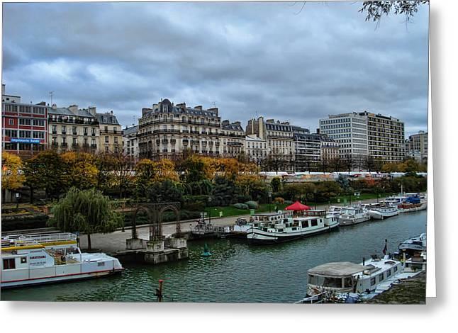 Francois Digital Greeting Cards - Seine Greeting Card by Paris France