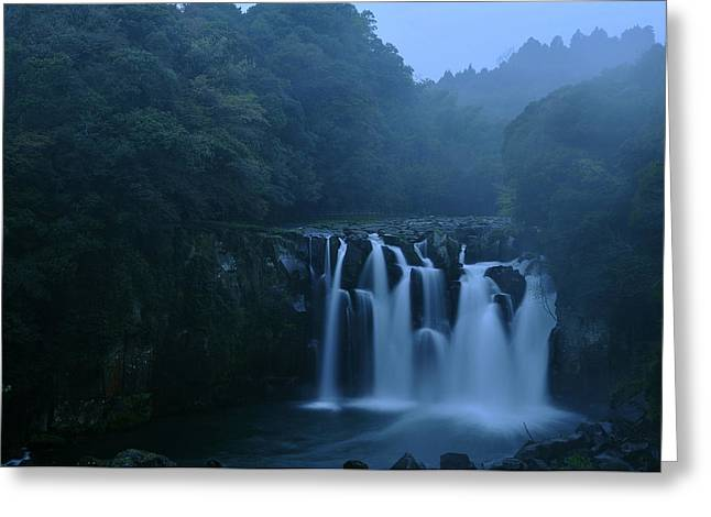 Waterfall Greeting Cards - Sekino-otaki Greeting Card by Aaron S Bedell