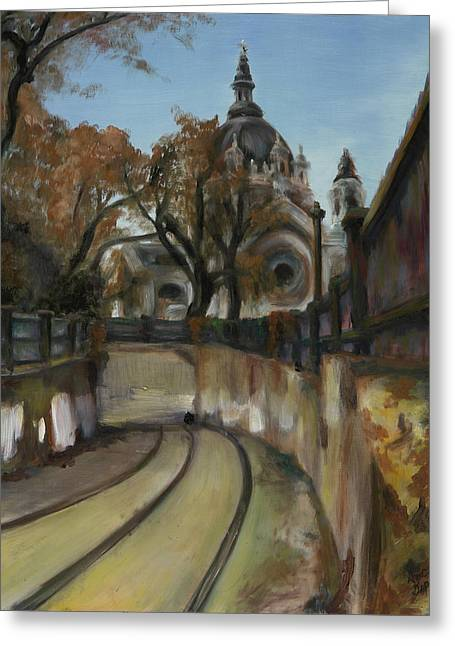 Streetcar Greeting Cards - Selby Tunnel Greeting Card by Grace Hasbargen