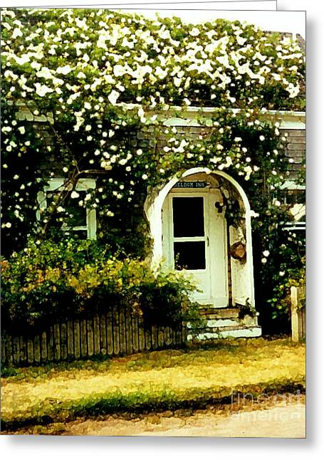 Desiree Rose Greeting Cards - Seldom Inn Greeting Card by Desiree Paquette