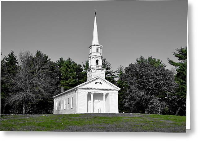 Martha Mary Chapel Greeting Cards - Selective color Chapel Greeting Card by Brian Mooney
