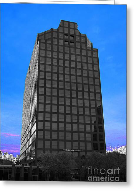 Architectur Greeting Cards - Selective Color Hi Rise Greeting Card by Bill Woodstock