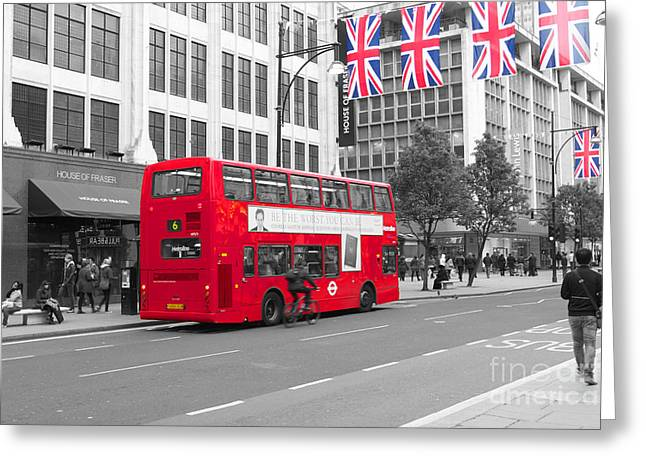 Transport For London Greeting Cards - Selective London scene Greeting Card by SteveHPhotos