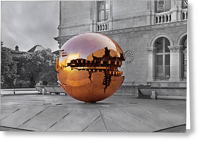 Selective Sphere Greeting Card by Betsy Knapp