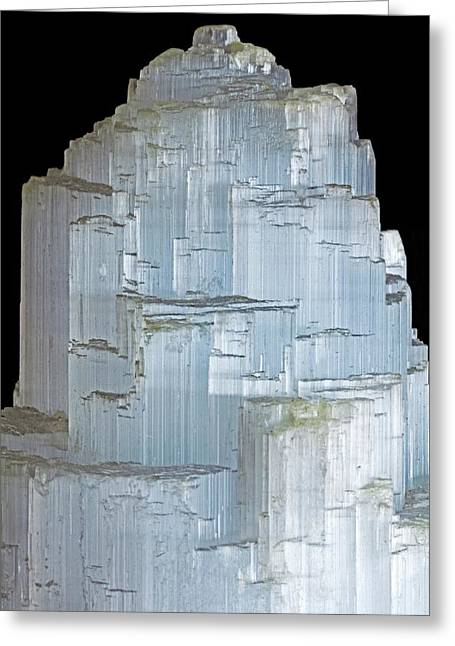 Selenite Greeting Card by Dirk Wiersma