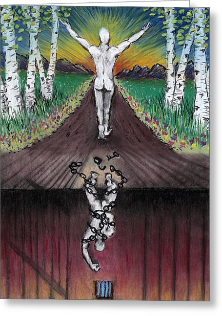 Chains Pastels Greeting Cards - Self-Created Greeting Card by E J Klepinger
