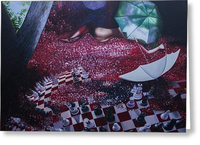 Disorder Paintings Greeting Cards - Self Mutilation Greeting Card by Aleksandar Tesanovic