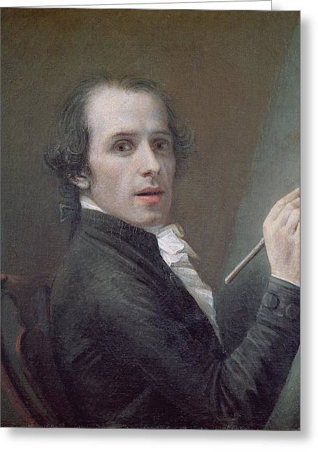 Sculptors Greeting Cards - Self Portrait, 1790 Oil On Canvas Greeting Card by Antonio Canova