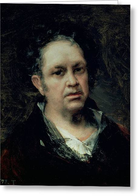 Painter Photographs Greeting Cards - Self Portrait, 1815 Oil On Canvas Greeting Card by Francisco Jose de Goya y Lucientes