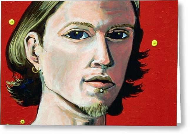 SELF PORTRAIT 1995 Greeting Card by Feile Case