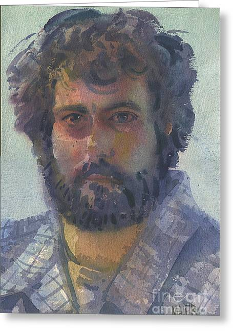 Self-portrait Greeting Cards - Self-Portrait 27 Greeting Card by Donald Maier