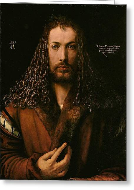 Self Portrait At The Age Of Twenty Eight 1500 Greeting Card by Philip Ralley