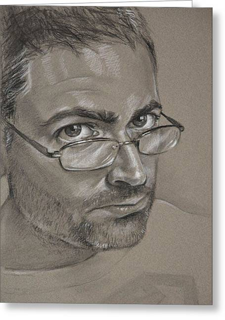 Self-portrait Greeting Cards - Self Portrait Greeting Card by Christopher Reid