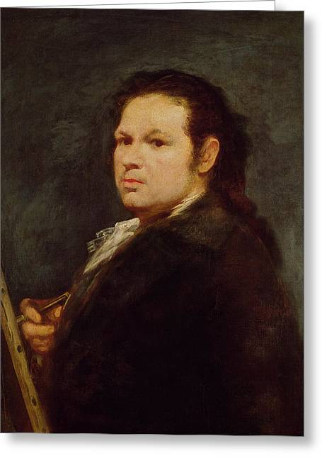 Artist At Work Greeting Cards - Self Portrait Greeting Card by Goya