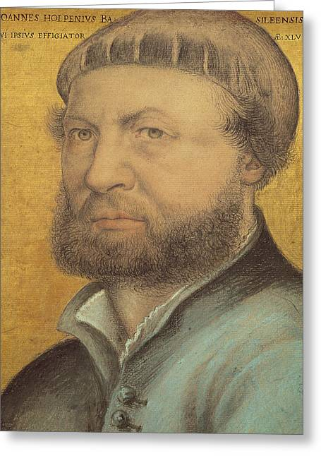 Self Portrait Greeting Card by Hans Holbein