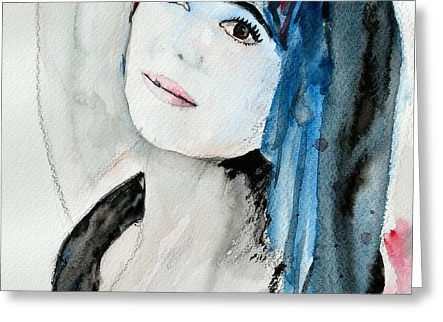 Self Portrait  Greeting Card by Ismeta Gruenwald