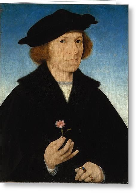 Cleves Greeting Cards - Self-Portrait Greeting Card by Joos van Cleve
