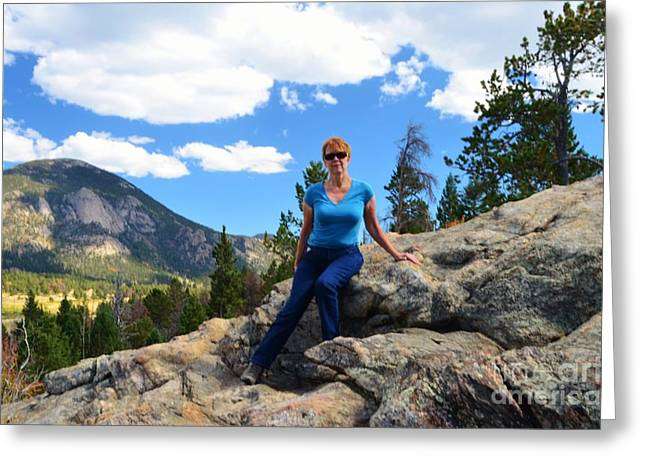 Caucasion Greeting Cards - Self Portrait Greeting Card by Kathleen Struckle