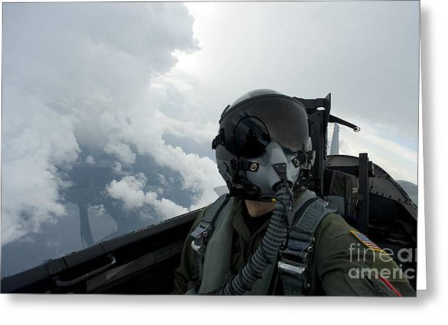 Obscure Greeting Cards - Self-portrait Of An Aerial Combat Greeting Card by Stocktrek Images