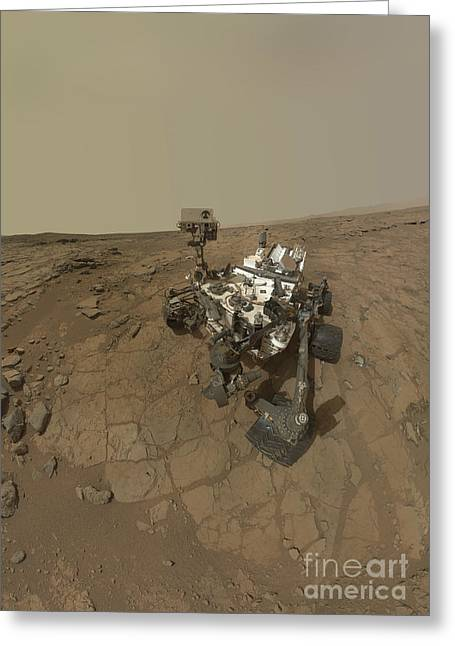Self Discovery Photographs Greeting Cards - Self-portrait Of Curiosity Rover Greeting Card by Stocktrek Images