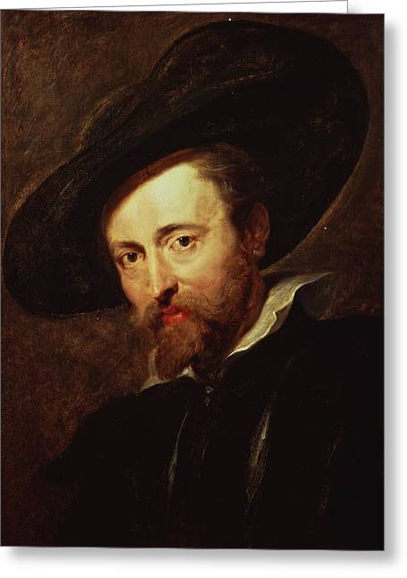 ist Photographs Greeting Cards - Self Portrait Oil On Panel Greeting Card by Peter Paul Rubens