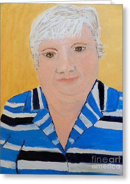Self Portrait Greeting Card by Pamela  Meredith