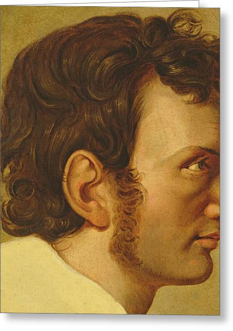 Sideburns Greeting Cards - Self Portrait Greeting Card by Philipp Otto Runge
