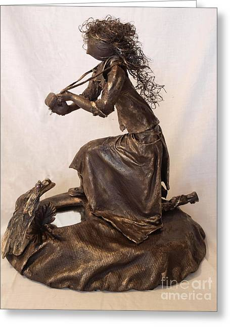 Realism Sculpture Sculptures Sculptures Greeting Cards - Self Reflection - 1st Photo Greeting Card by Vivian Martin