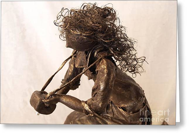 Realism Sculpture Sculptures Sculptures Greeting Cards - Self Reflection - 2nd Photo Greeting Card by Vivian Martin