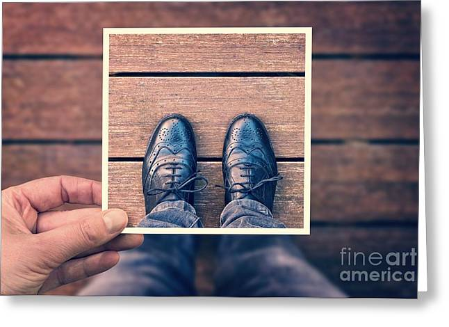 Process Greeting Cards - Selfie Greeting Card by Delphimages Photo Creations